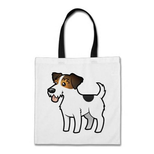 Cartoon jack russell terrier tote bag zazzle.com tote bags