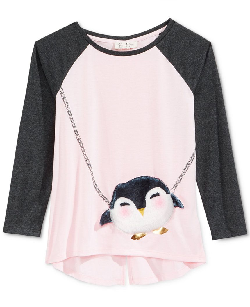 21f1e0ce240 Jessica Simpson Penguin Graphic-Print Purse T-Shirt