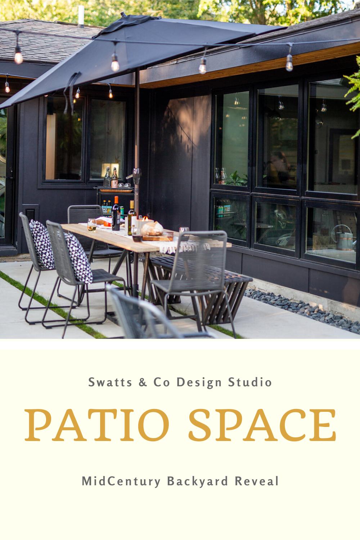 Modern Black House Patio Reveal Backyard Furniture Outdoor Patio Designs Patio