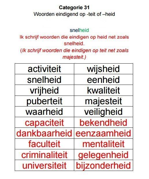 Spellingcategorie n cito cito spelling pinterest school - Werkblad eindigen ...