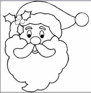Dibujo Cara De Papa Noel Santa Claus Para Colorear Dibujo De