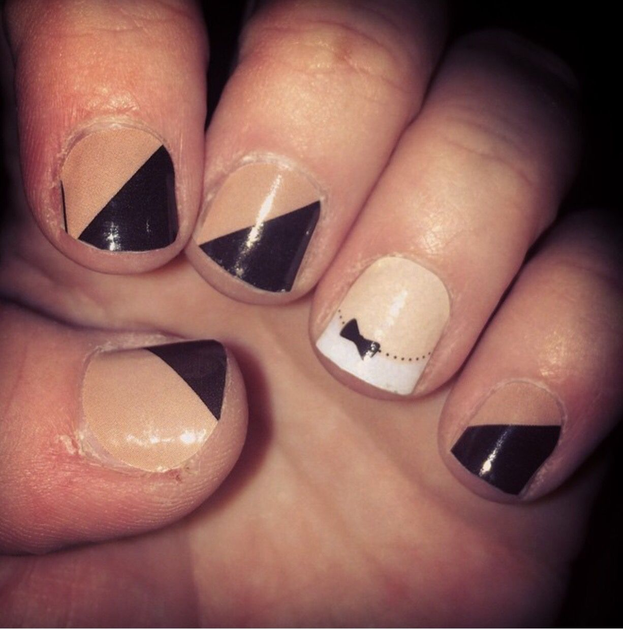 Jamberry natural chic and French tip bows | Jamberry Nail Wraps ...