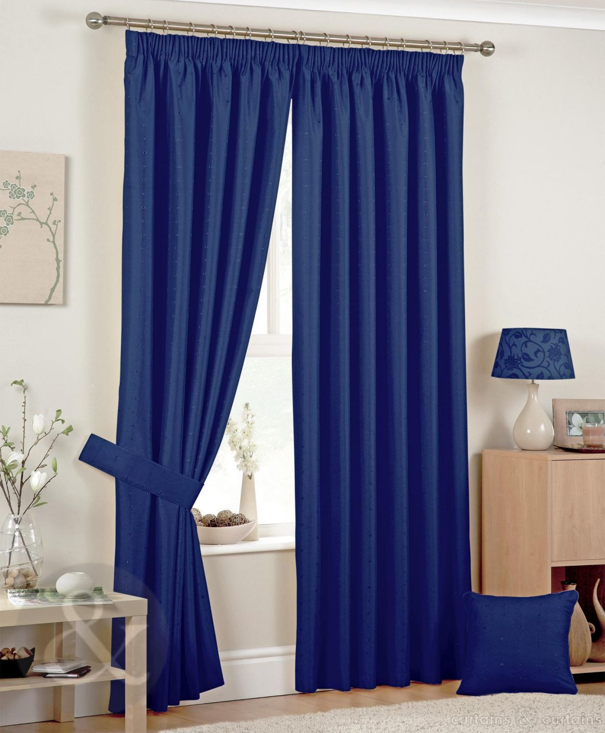 Pin by Leslie Benjamin on Home Office | Blue curtains for ...