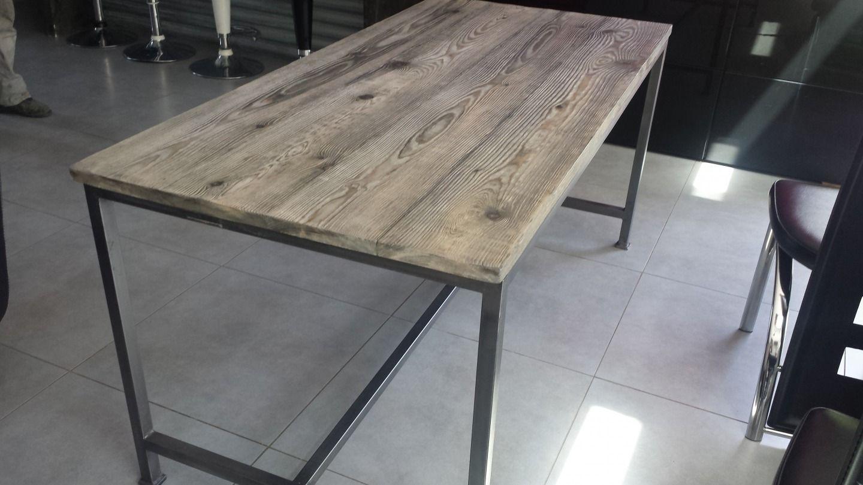 Meuble Industriel Table De Salle A Manger Meubles Et Rangements  # Meuble Palette Style Industriel