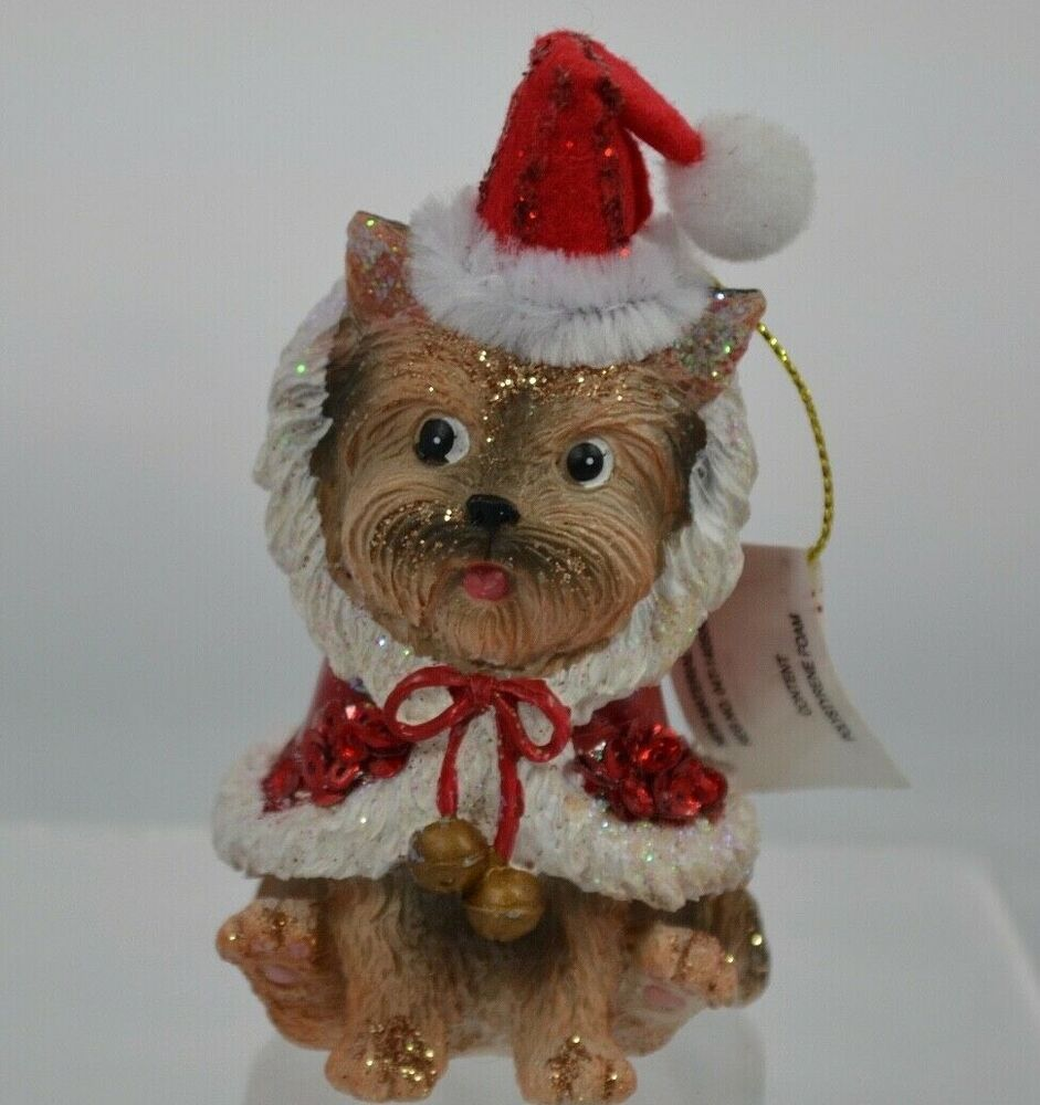 Yorkshire Terrier Dog Santa Christmas Ornament Figurine Pier 1 Imports New Ebay Christmas Ornaments Yorkshire Terrier Dog Santa Christmas