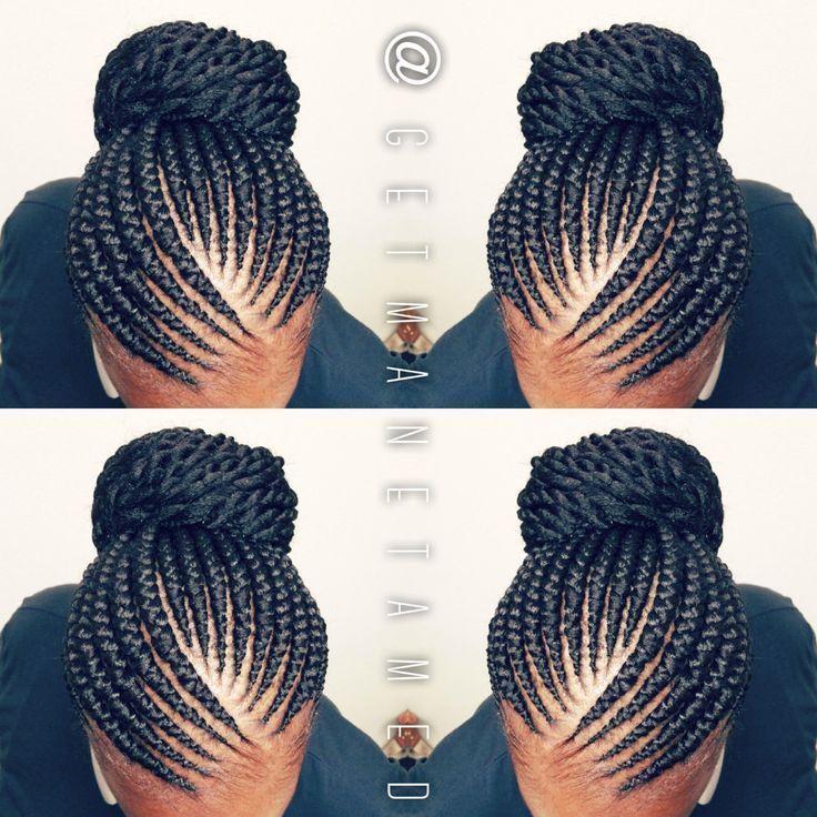 Ghana braids. Ghana cornrows. Banana cornrows. Feed in cornrows.