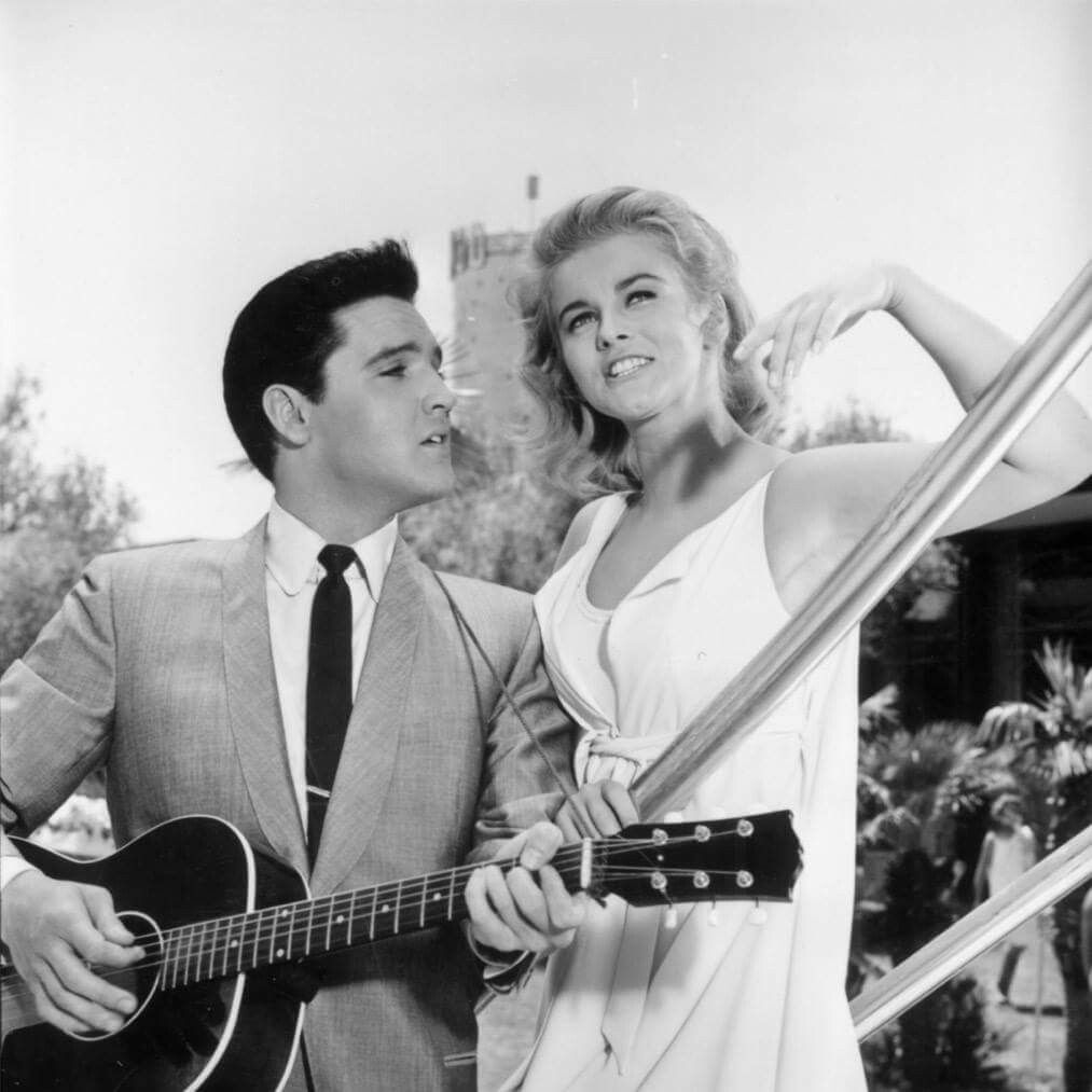 Elvis Presley And Ann-Margret In Viva Las Vegas.