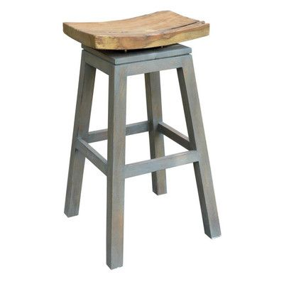 Probst Swivel Solid Wood 29 Quot Bar Stool In 2020 Wood Bar