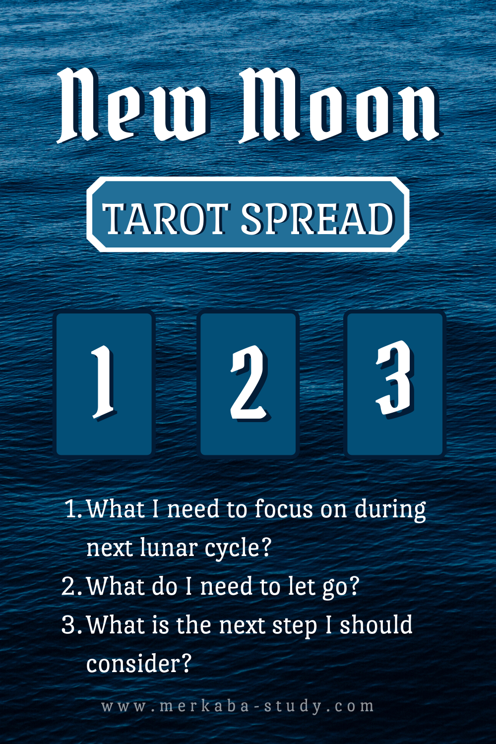 New Moon Tarot Spread for Beginners ✧ Baby Witch Project ✧Merkaba Study