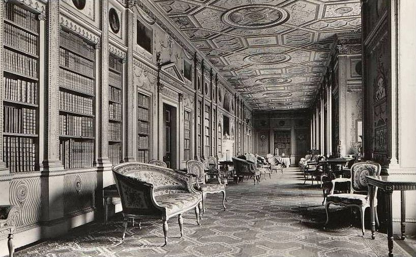 Inside the Long Gallery of Syon House, London