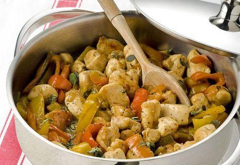 poitrine de poulet aux poivrons l g re recette regime pinterest repas leger le poivron et. Black Bedroom Furniture Sets. Home Design Ideas