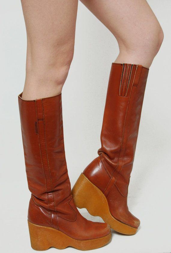 70s Leather Boots