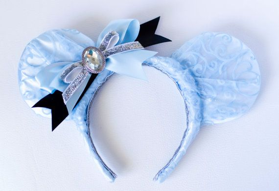 Cinderella Inspired Mickey Mouse Ear Headband by InCindysCloset, $38.50