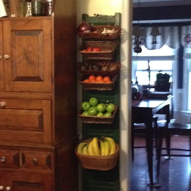 Pin By Liz Meadows On Kitchen Fruit Storage Kitchen Produce Storage Fruit Storage