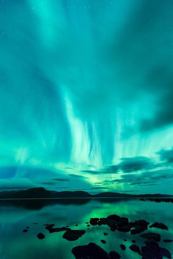 Auroras boreales desde Suecia: