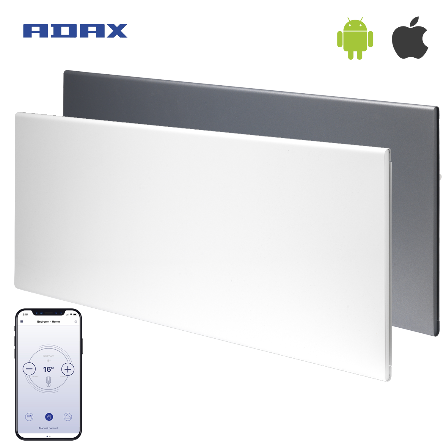 Adax Neo Wifi Smart Electric Panel Heater Wall Mounted Timer Modern Convector Radiator Electric Radiators Save Energy Electricity