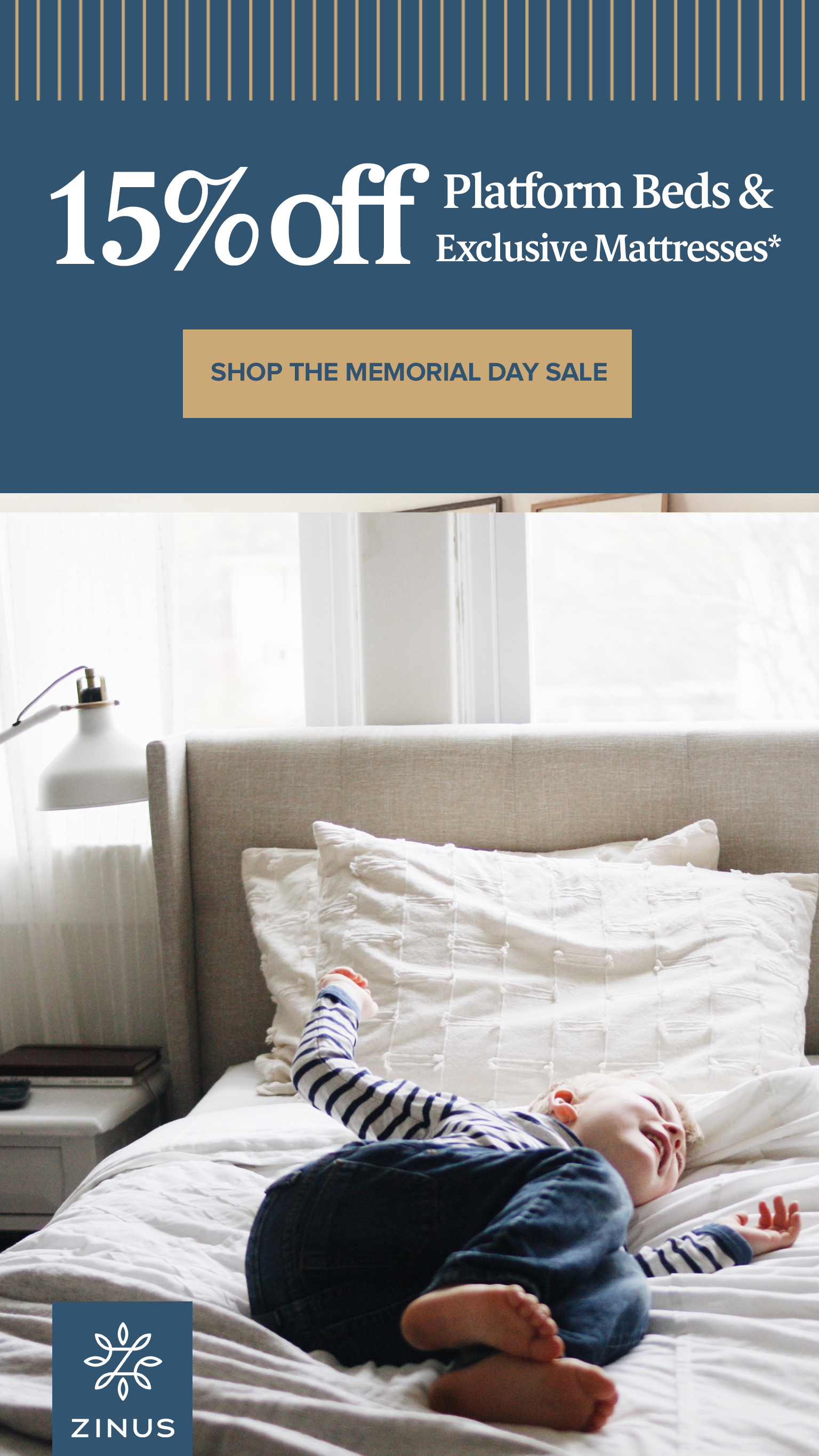 Zinus Invites You To Our Memorial Day Sale We Re Serving Up 15