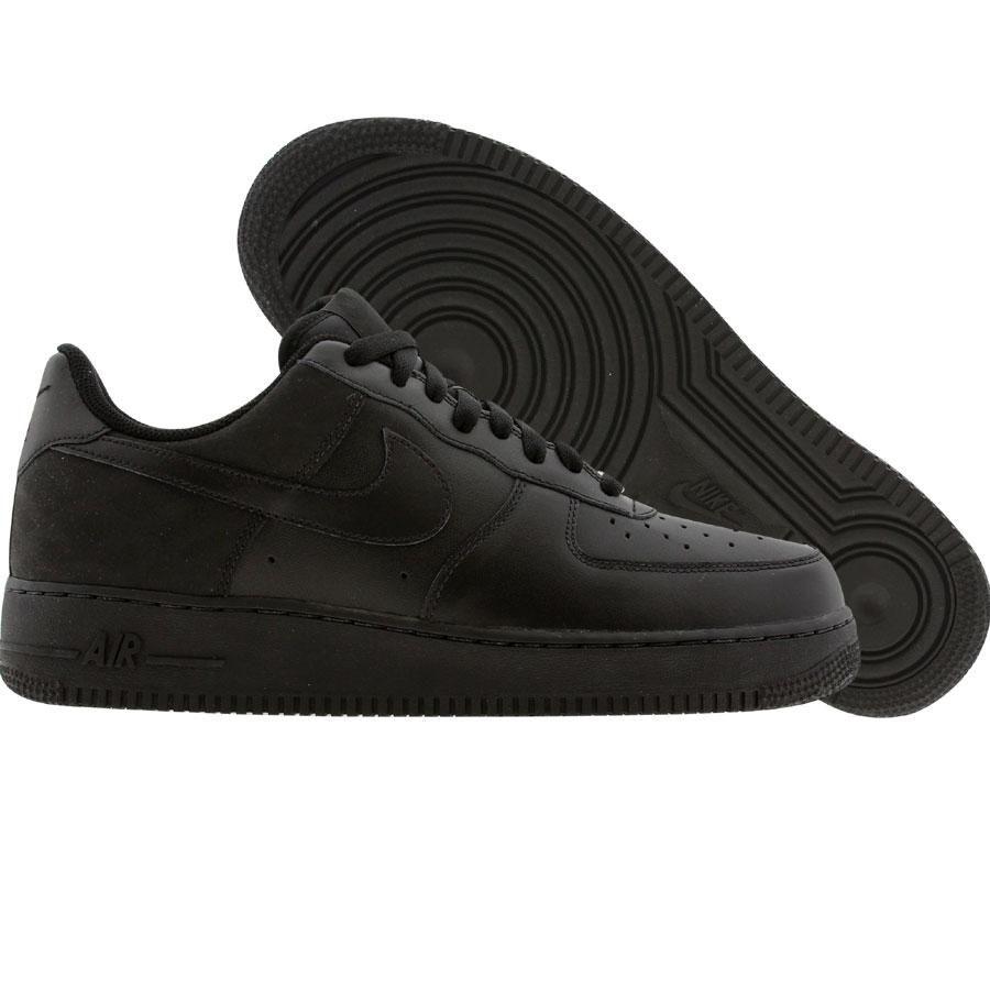 Nike Womens Air Force 1 07 Low (black / black / black nubuck) 315115
