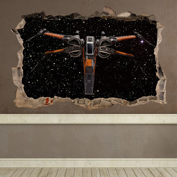 stickers muraux trou 65 x wing vinyle d coratif star. Black Bedroom Furniture Sets. Home Design Ideas