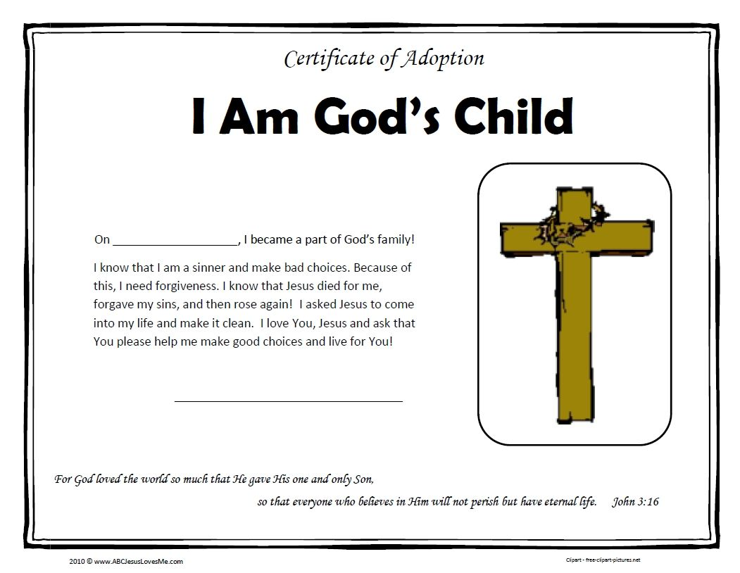 accepted jesus certificates templates bubs is coming upon the 1 year anniversary that he decided to give his