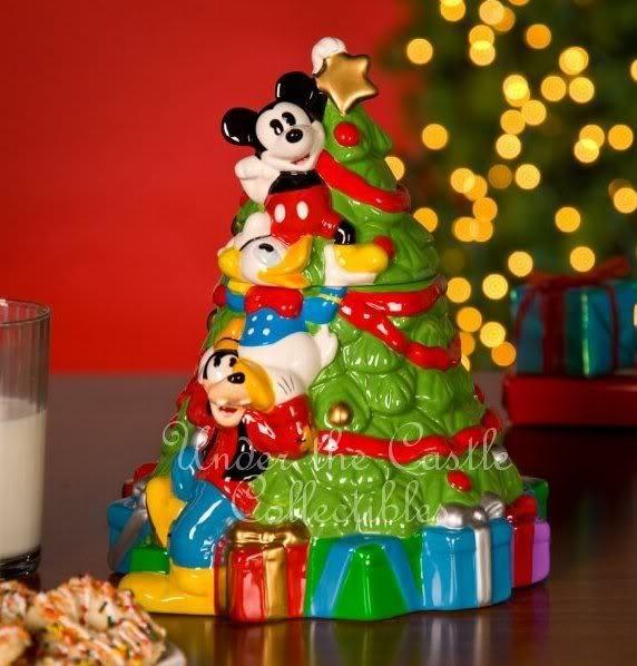 Mickey Mouse Christmas Tree Ceramic Cookie Jar Christmas Cookie Jars Cookie Jars Vintage Ceramic Cookie Jar