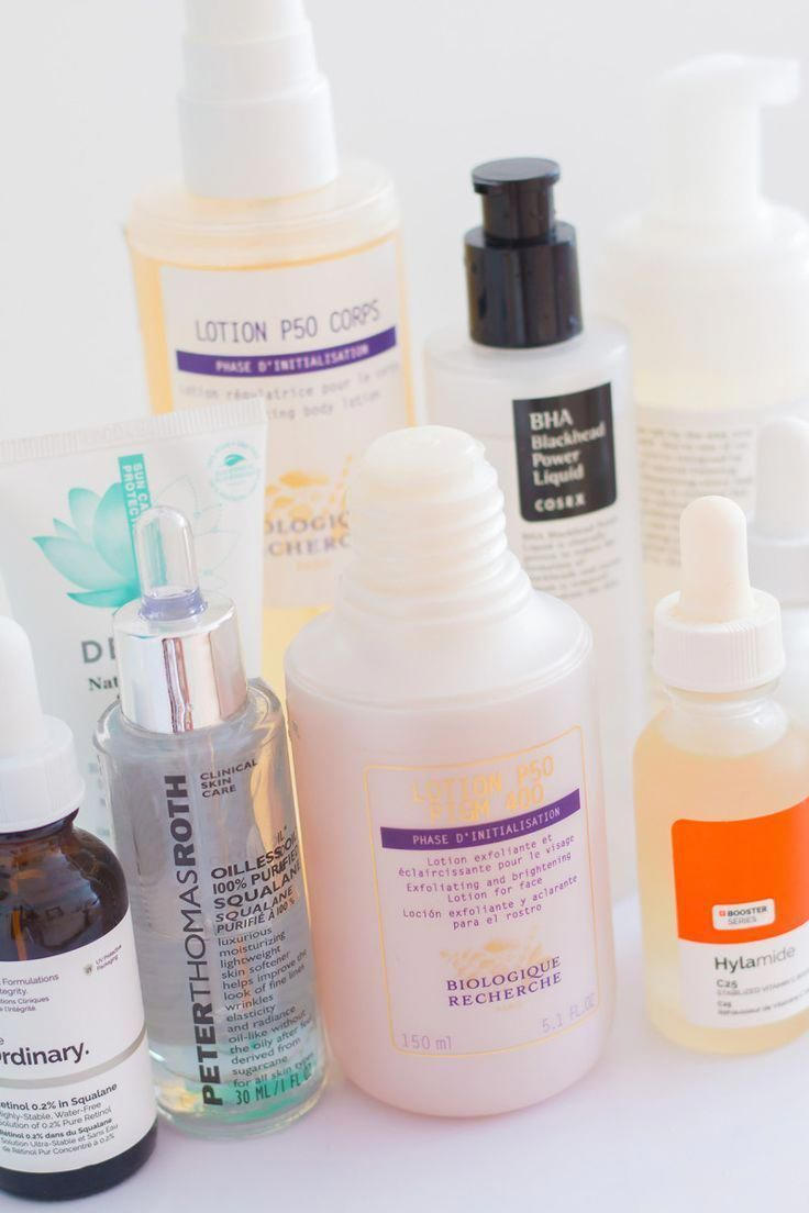 The products in my fall skincare routine.