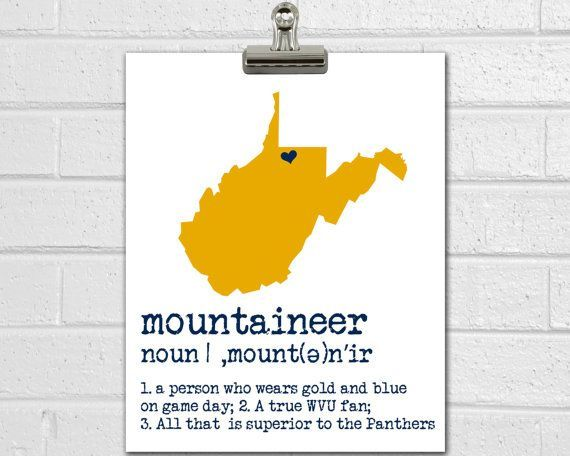 WVU Mountaineers Print - WVU Art - West Viginia University - Dorm Decorations - Dorm Poster - College Room Decor - Graduation Gift #wvumountaineers WVU Mountaineers Print - WVU Art - West Viginia University - Dorm Decorations - Dorm Poster - College Room Decor - Graduation Gift #wvumountaineers