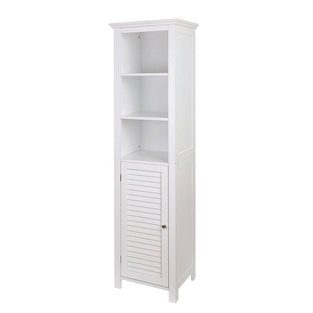 Floor Storage Cabinet With 1 Door White Glitzhome Slim Storage Cabinet Storage Cabinet Bathroom Storage Solutions