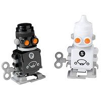 Robot salt and pepper shakers.
