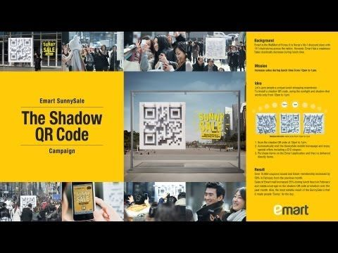 ▶ Emart Sunny Sale Campaign - 3D Shadow QR Code - YouTube