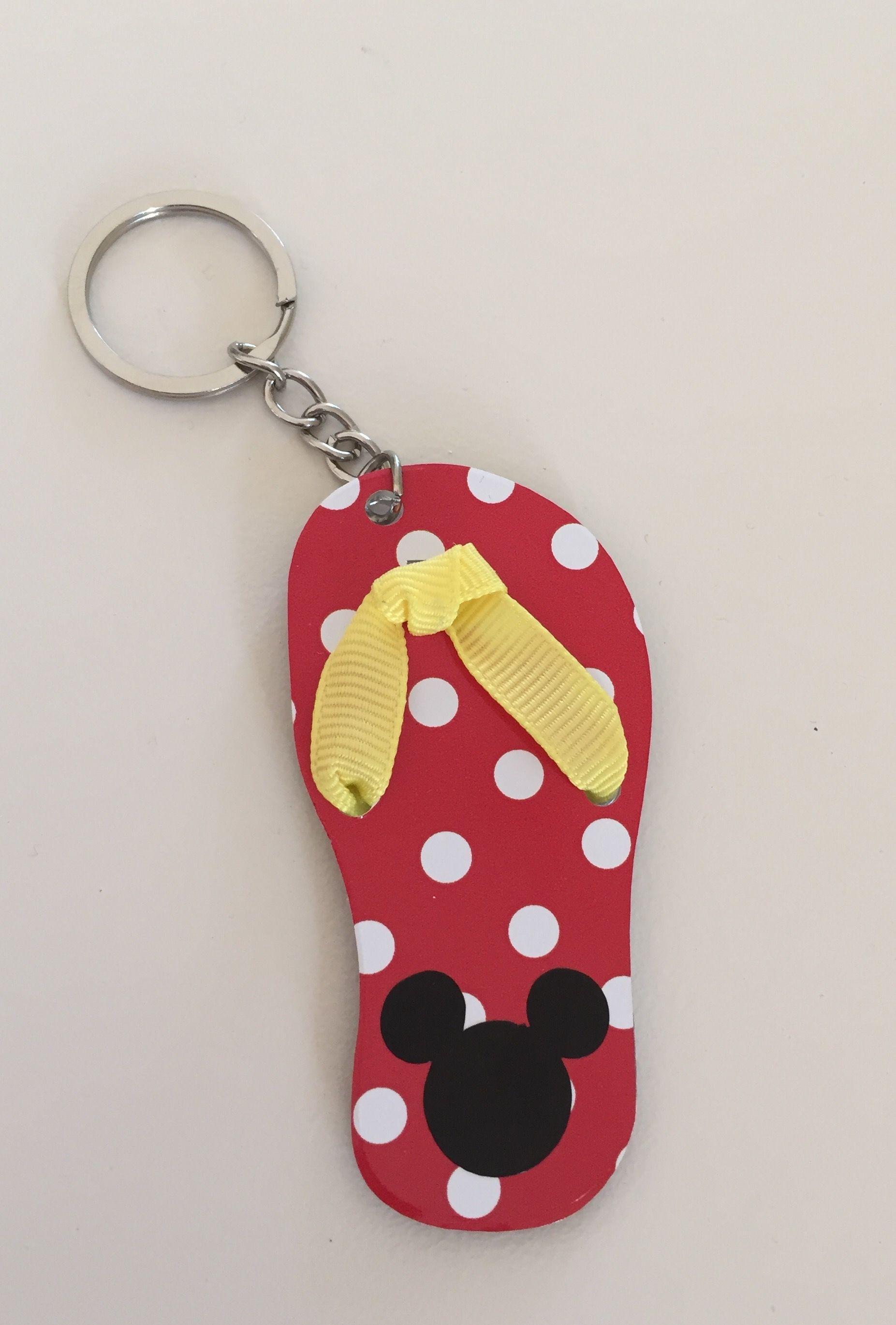 Cute flip flop acrylic keychain!