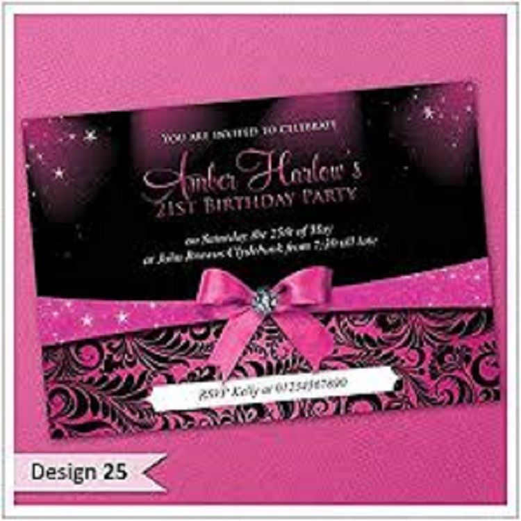 Personalised 50th Birthday Invitations