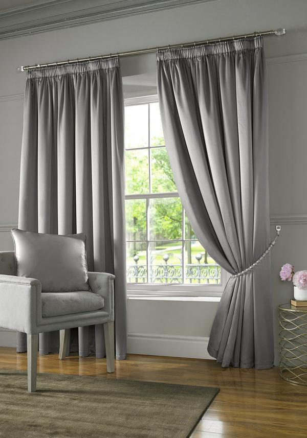Burj Ready Made Lined Curtains Silver Desain Interior Modern Interior Desain Interior