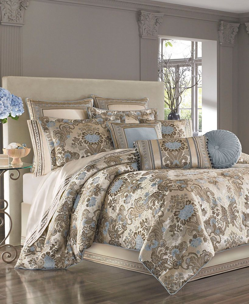 J Queen New York Jordyn Olivia TAUPE Queen Comforter Sham