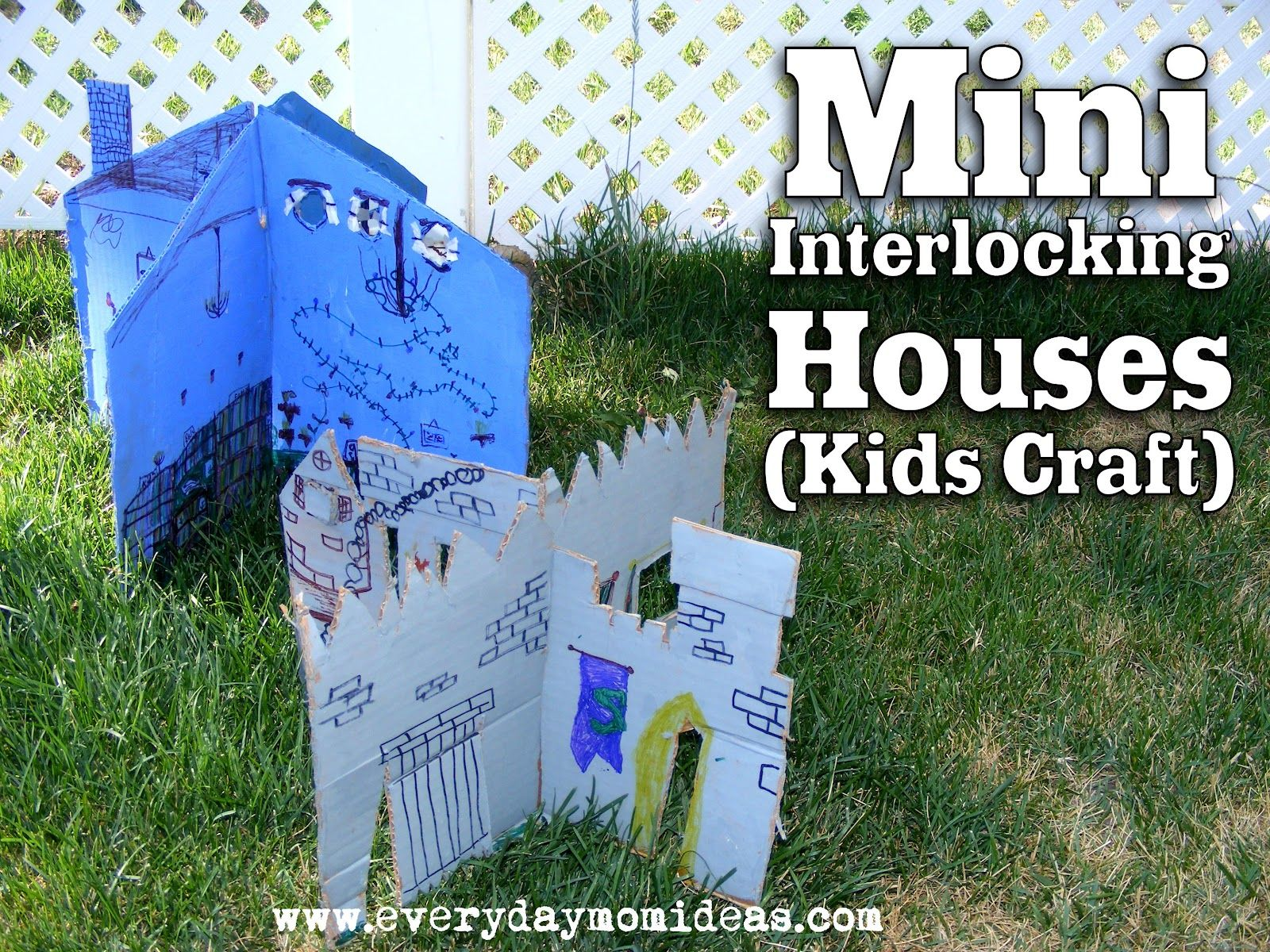 Mini interlocking houses.  Your kids will be occupied for hours!