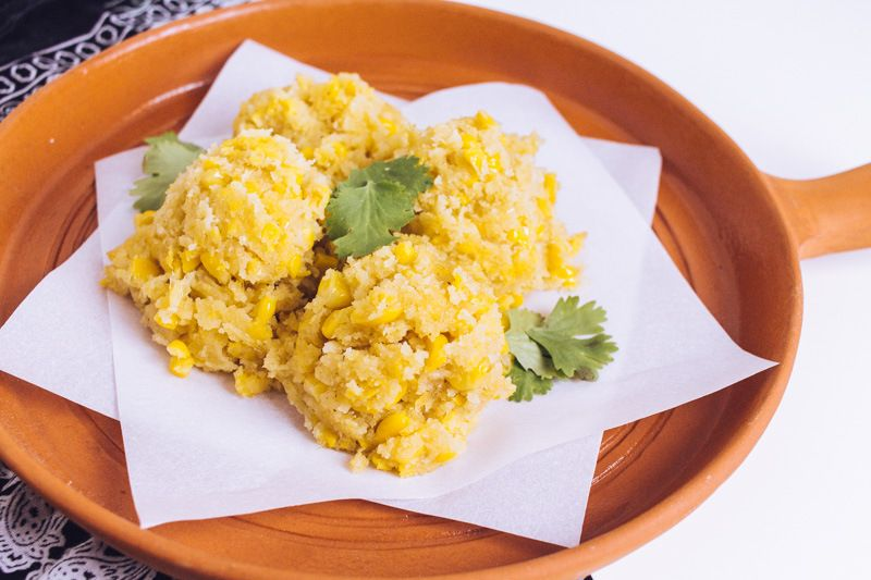 Recipe for vegan mexican sweet corn cakes posted on