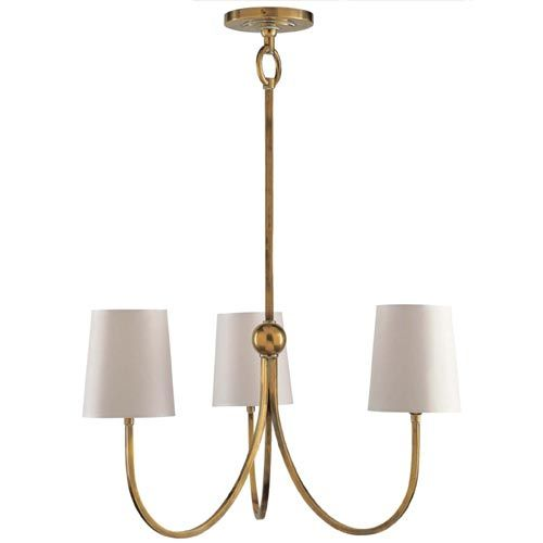 Visual comfort and company antique brass reed small chandelier antique brass reed small chandelier visual comfort and company candles w 2 or 3 shades aloadofball Choice Image
