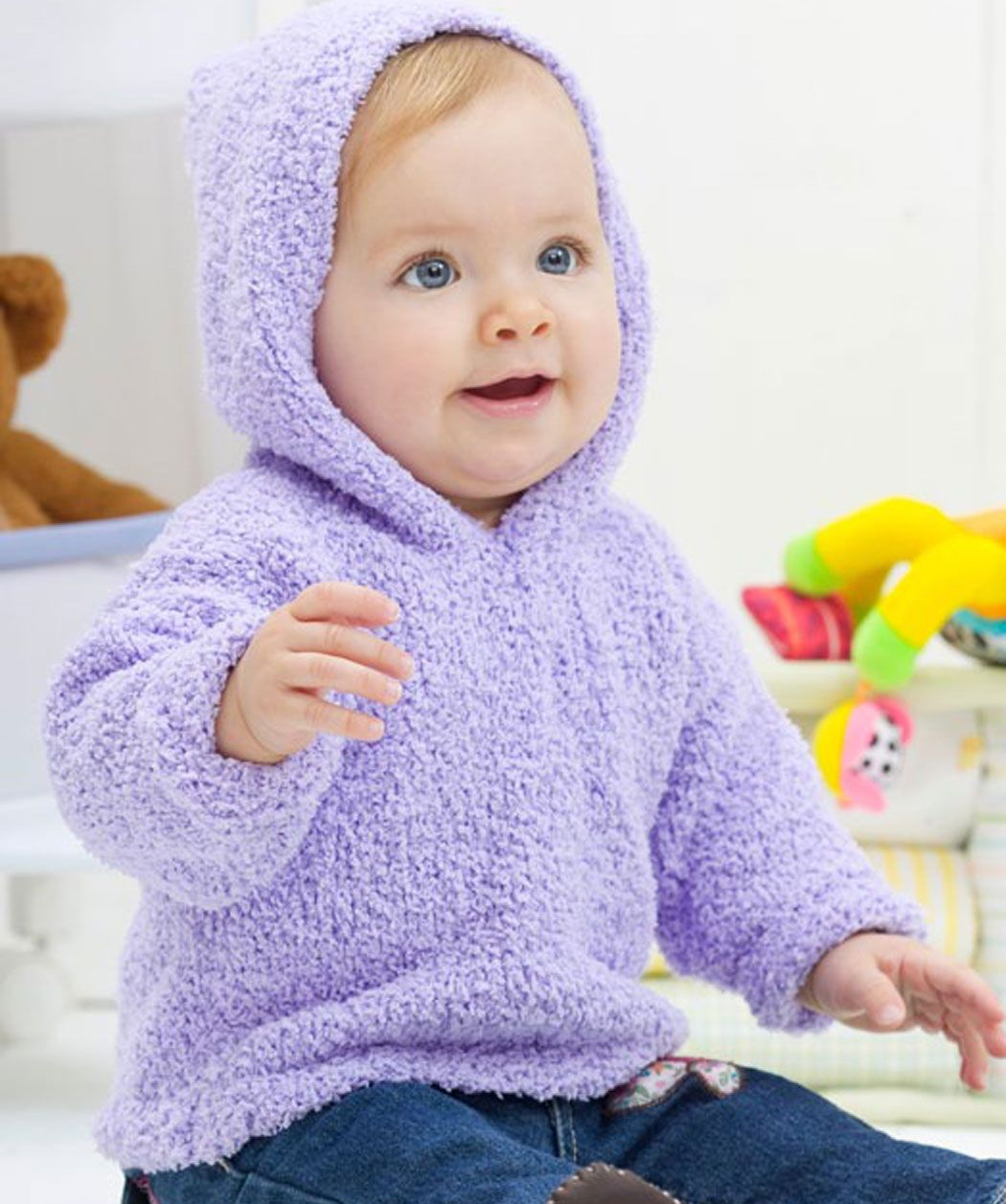 Toddler Hoodie Knitting Pattern : Easy Warm & Cozy Hoodie Knitting Pattern for Toddlers ...