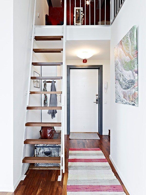 sofa cuero chaiselonge sitio de almacenaje cocina piso pequeño con ...