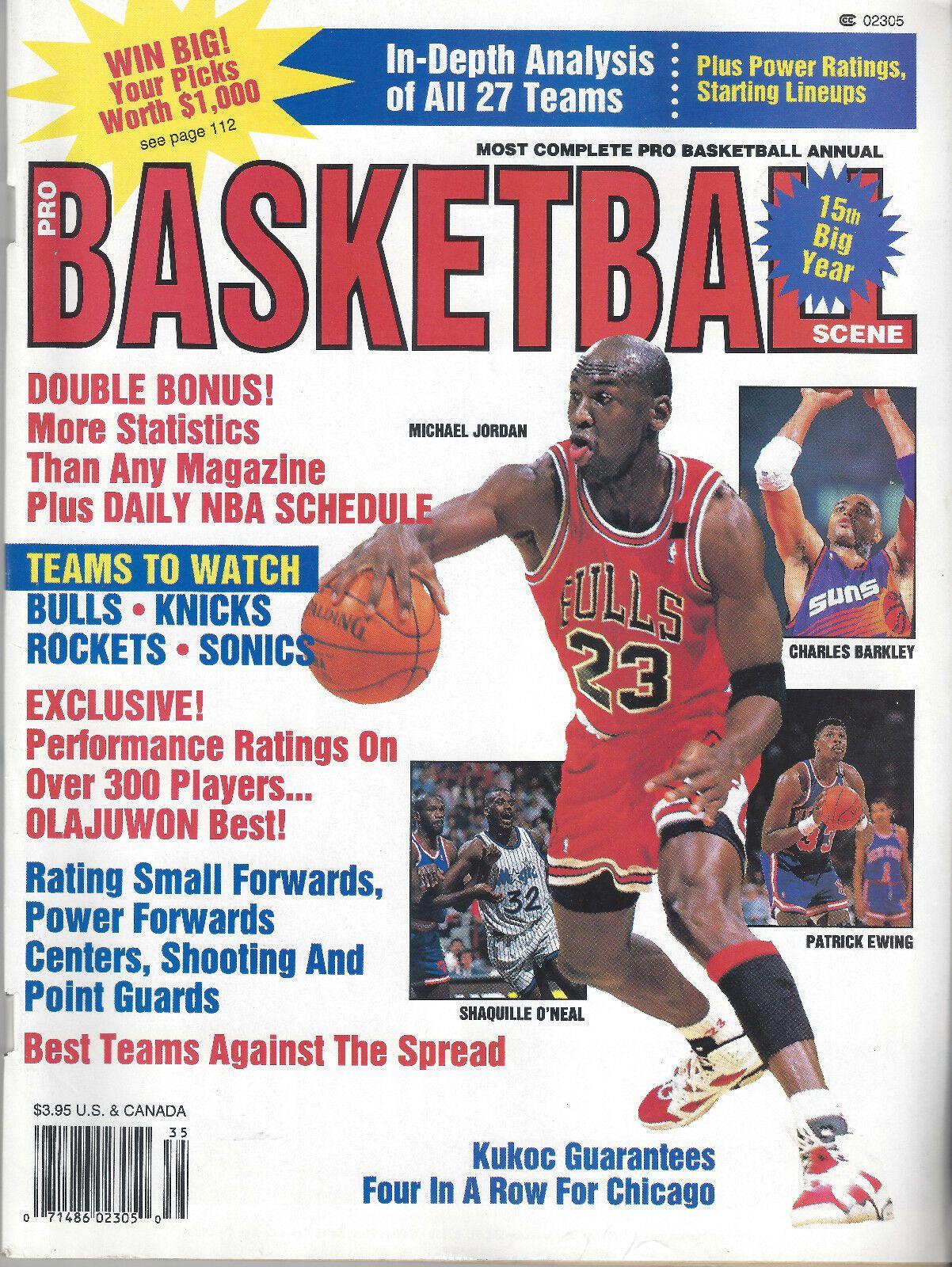 199394 michael jordan cover pro basketball scene annual