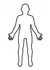 Outline Of Person Coloring Page Body Outline Body Template