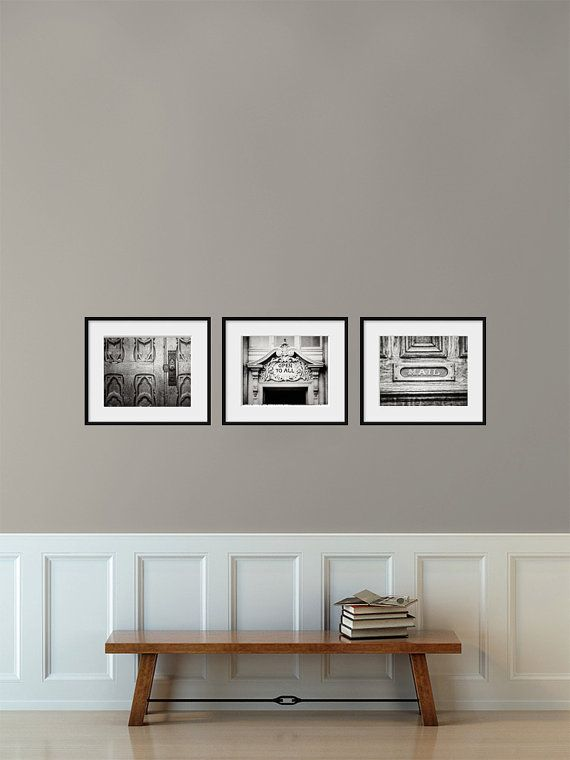 Mudroom decor set foyer art entryway art rustic black and white prints for