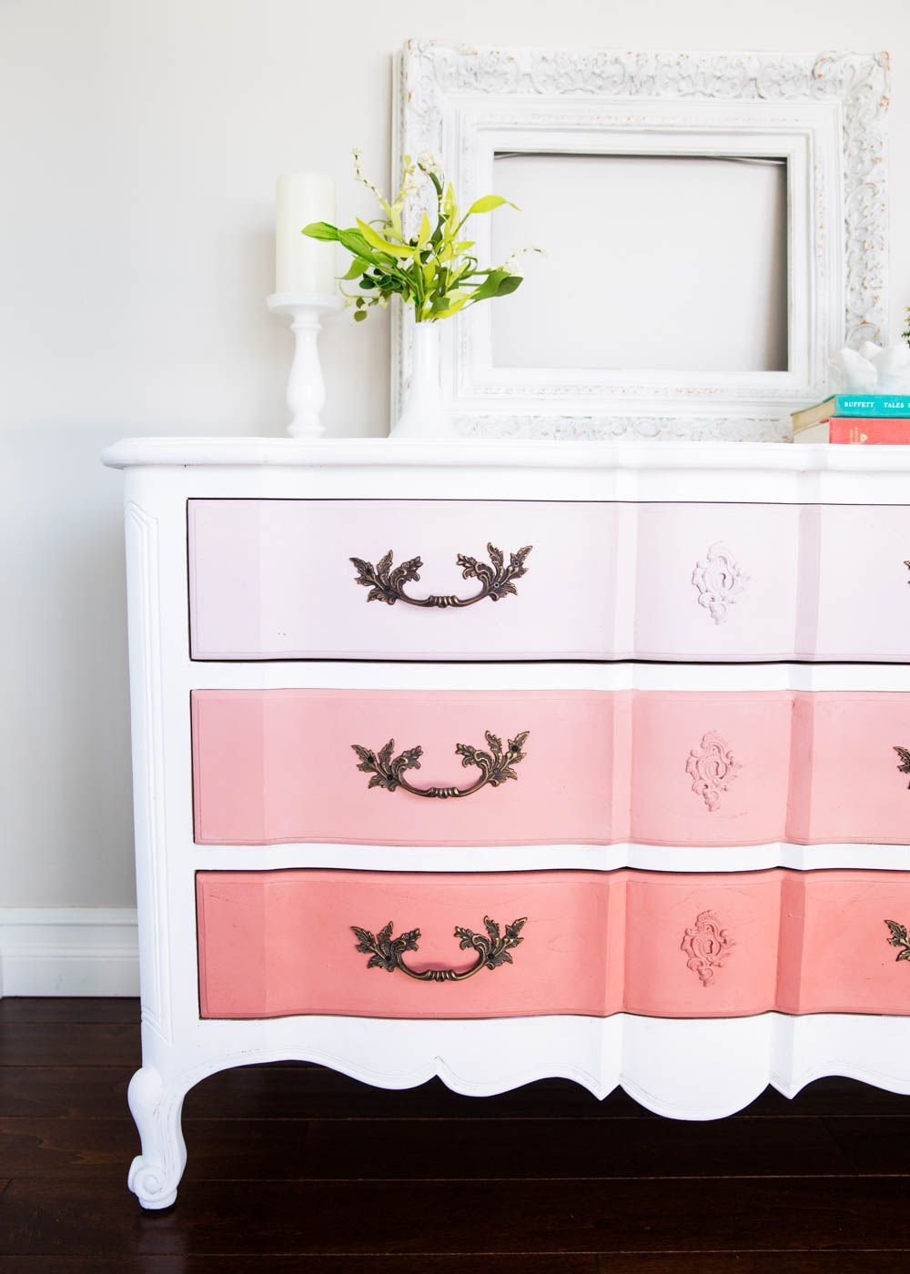 to Paint Furniture and Ombre Dresser The easiest tutorial on how to paint furniture ...creating a DIY ombre dresser. Just 4 easy steps to creating this look.The easiest tutorial on how to paint furniture ...creating a DIY ombre dresser. Just 4 easy steps to creating this look.