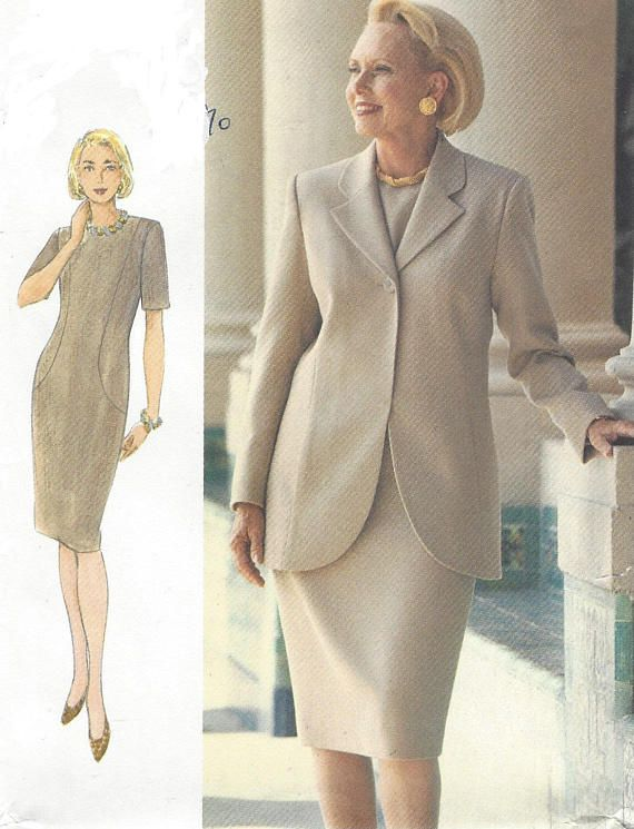 90s Womens Princess Seam Jacket and Shift Dress Perfect for | Vogue ...