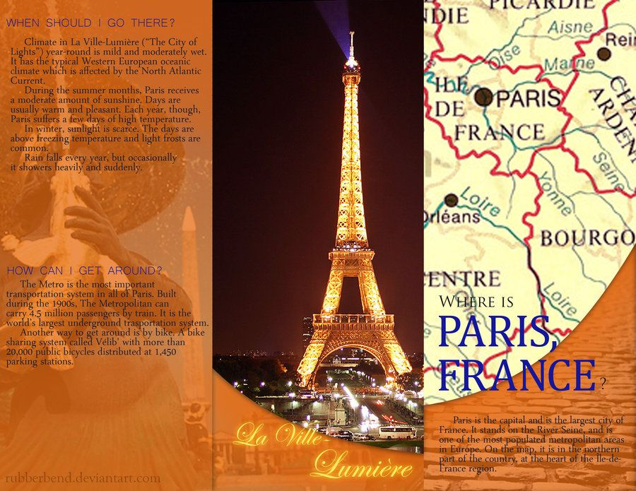 World Travel Brochure Paris Paris Pinterest Travel Brochure