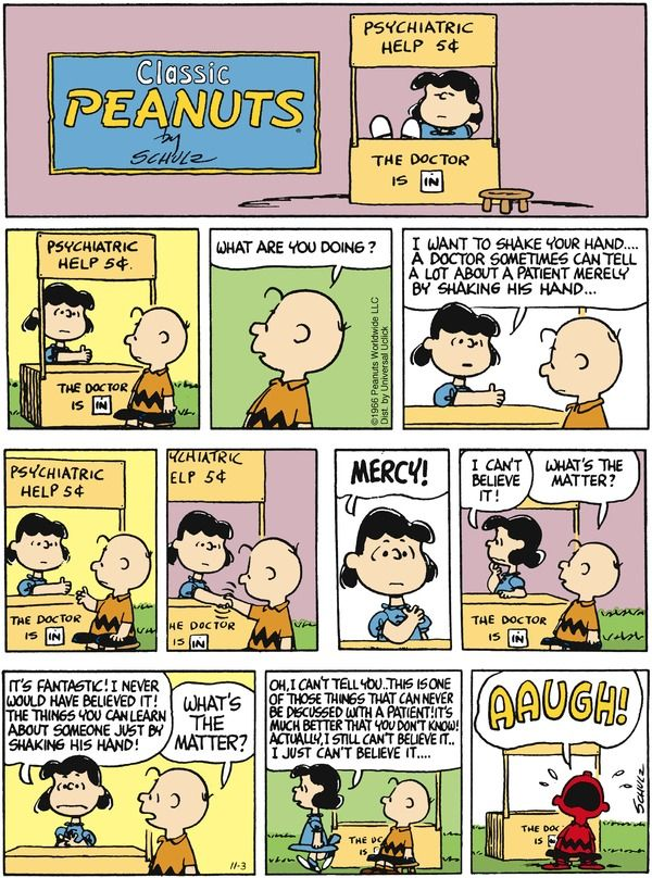 Peanuts Comic Strip, November 03, 2013 on GoComics.com