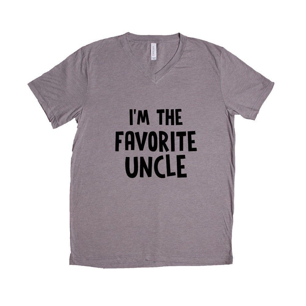 I'm The Favorite Uncle Uncles Dads Father Fathers Grandpa Grandfather Children Kids Parent Parents Parenting Unisex T Shirt SGAL4 Unisex V Neck Shirt