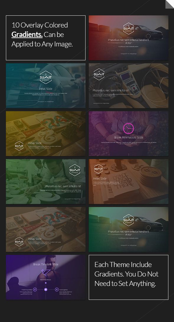 summit 2 - multi design powerpoint template, Presentation templates