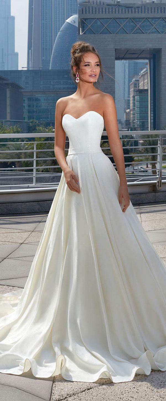 Modest taffeta sweetheart neckline aline wedding dress with belt