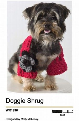 Unique free easy crochet dog sweater pattern for a small dog ...